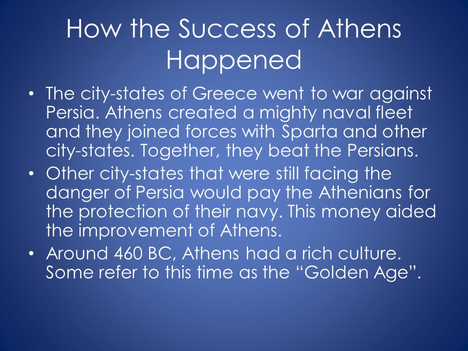 How the Success of Athens Happened
