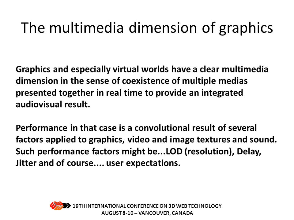 The multimedia dimension of graphics
