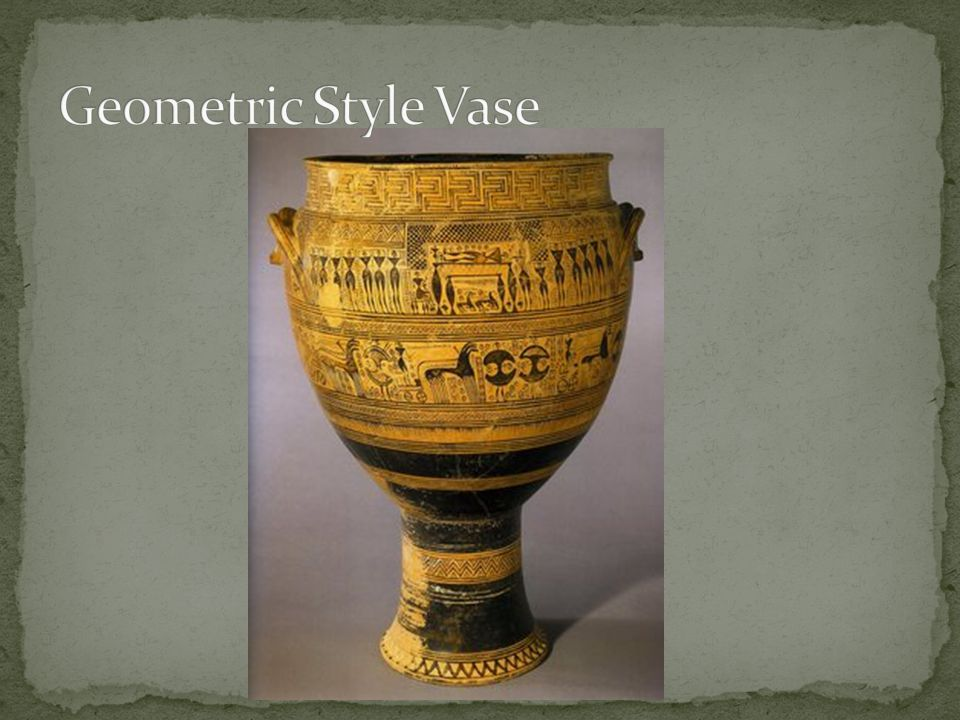 Geometric Style Vase