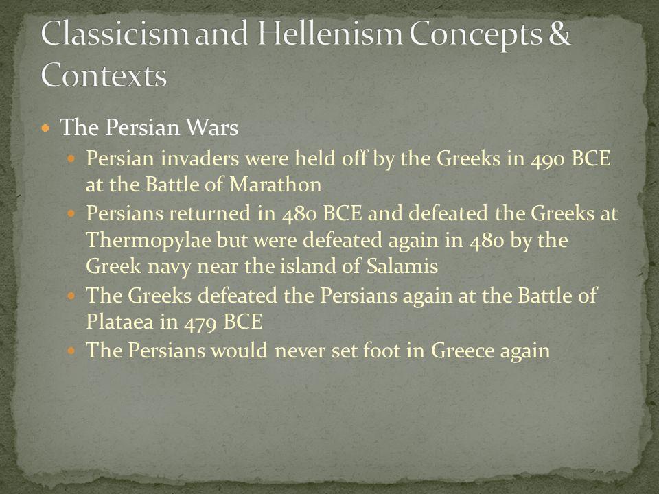 Classicism and Hellenism Concepts & Contexts