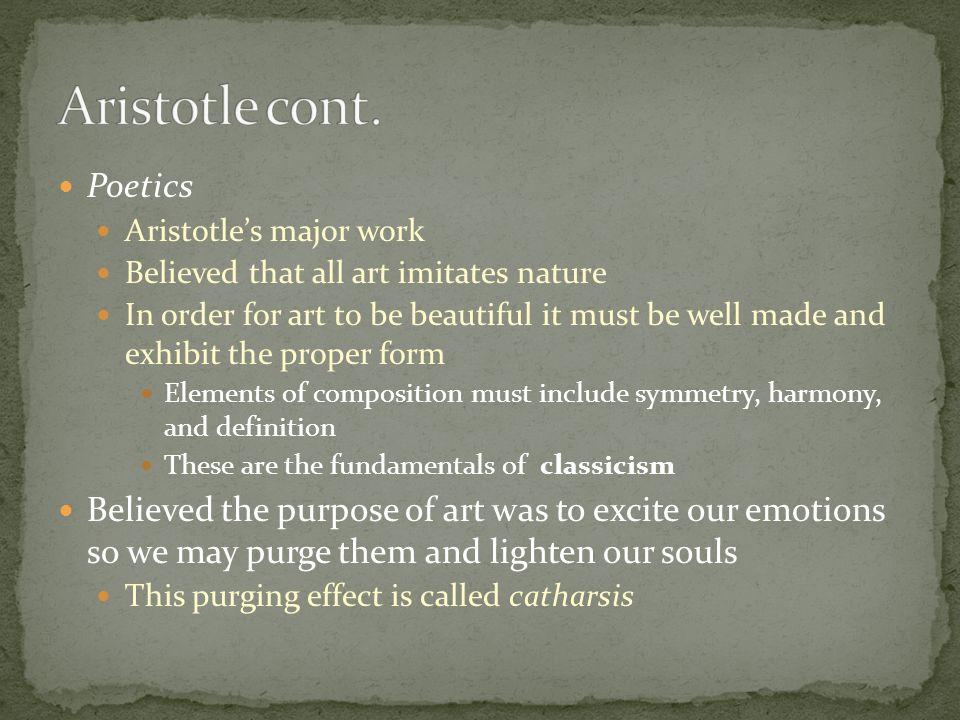 Aristotle cont. Poetics
