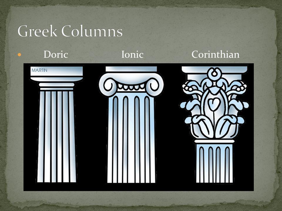 Greek Columns Doric Ionic Corinthian