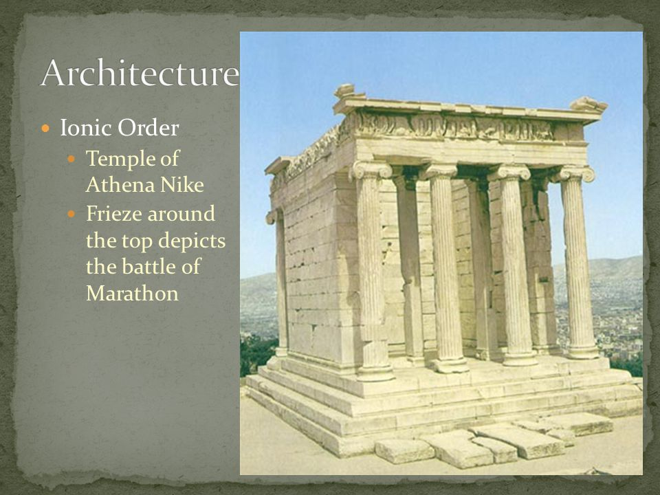 Architecture Ionic Order Temple of Athena Nike