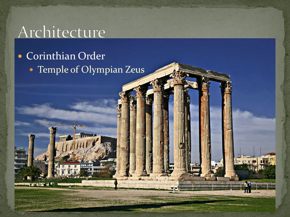 Architecture Corinthian Order Temple of Olympian Zeus