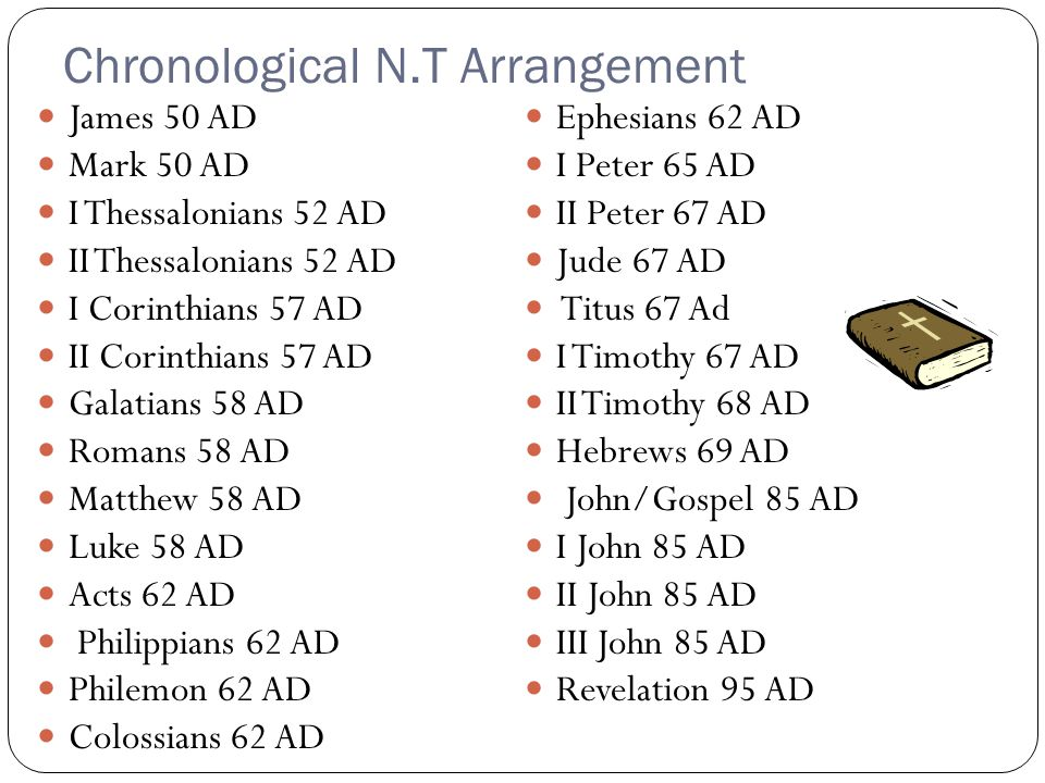 Chronological N.T Arrangement