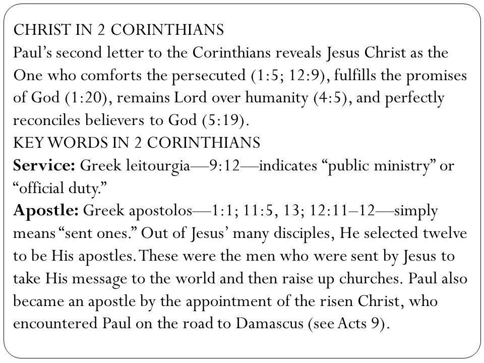 CHRIST IN 2 CORINTHIANS