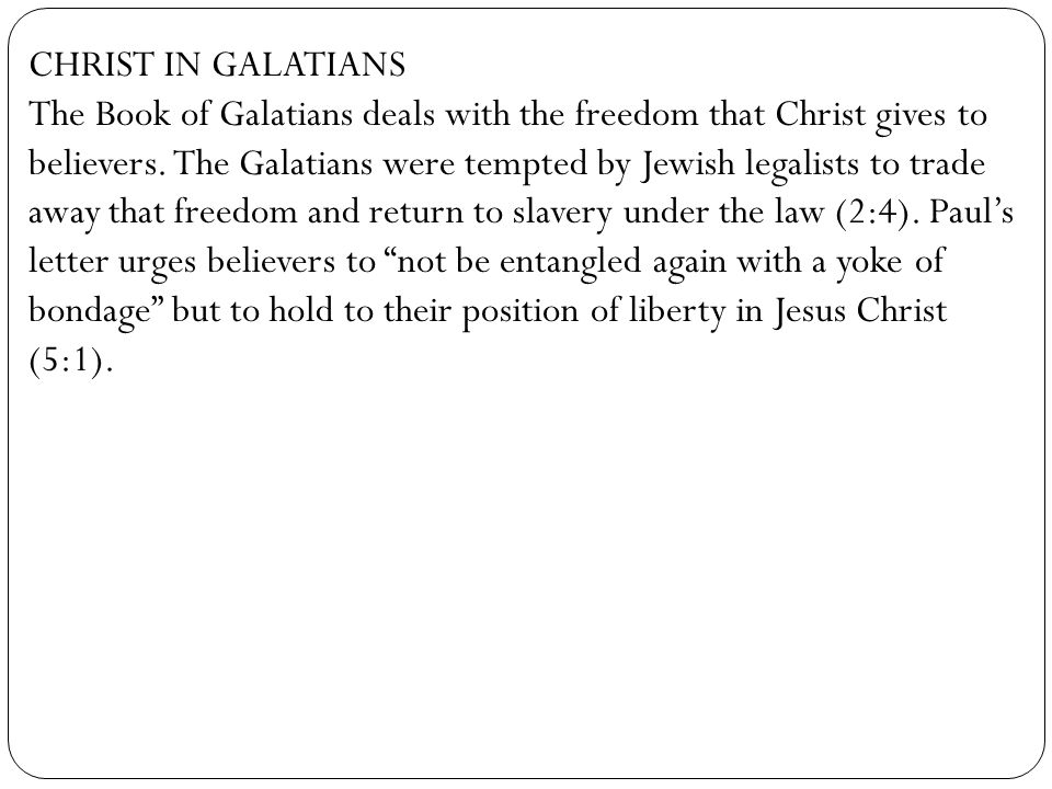 CHRIST IN GALATIANS