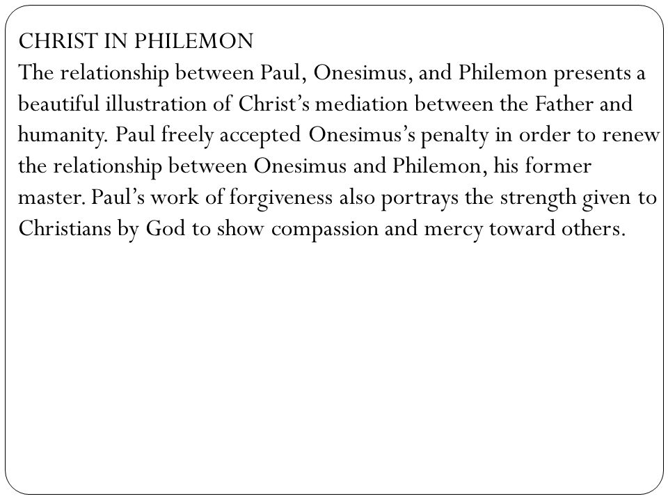 CHRIST IN PHILEMON