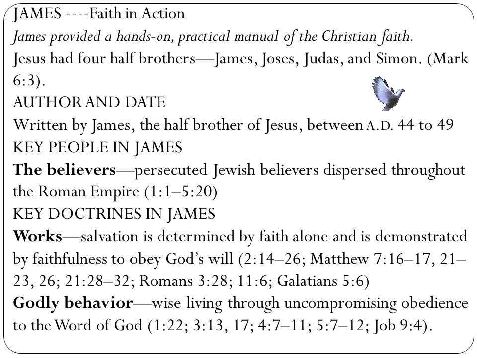 JAMES ----Faith in Action