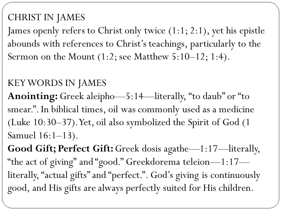 CHRIST IN JAMES