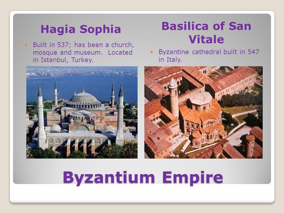 Byzantium Empire Basilica of San Vitale Hagia Sophia