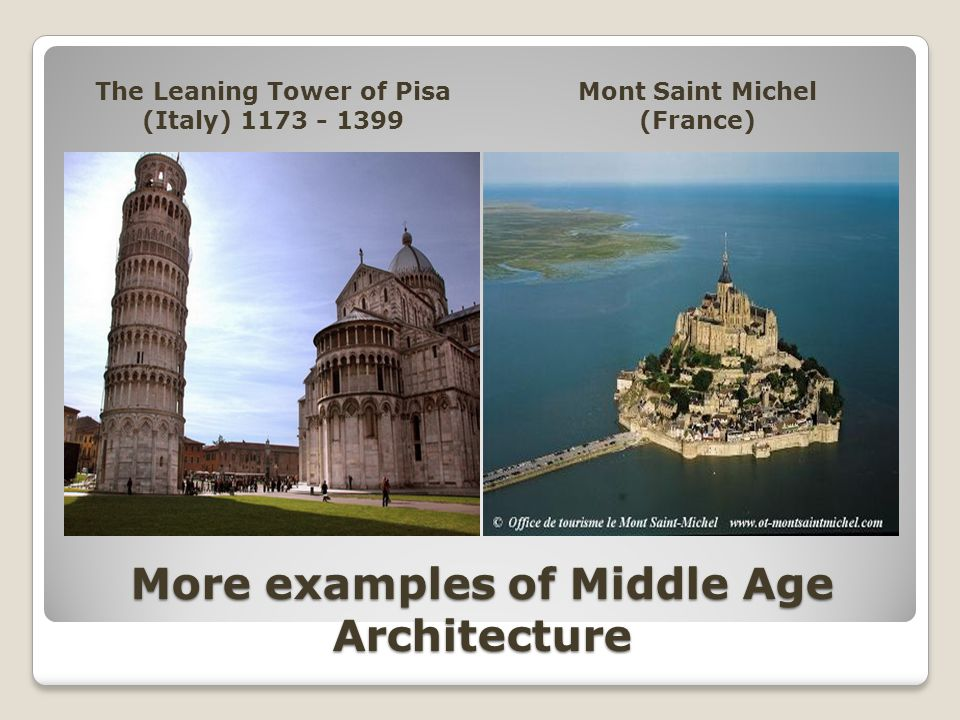 More examples of Middle Age Architecture