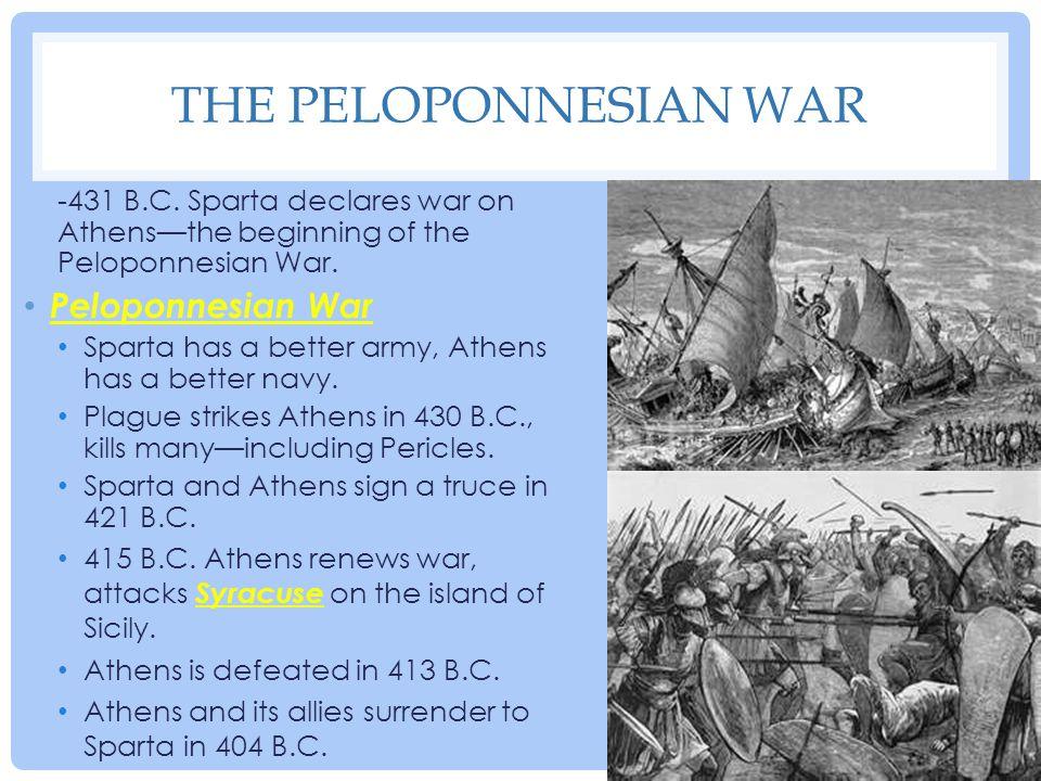 The Peloponnesian War Peloponnesian War