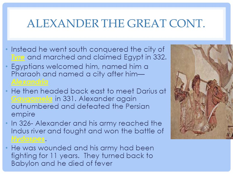 Alexander The Great cont.