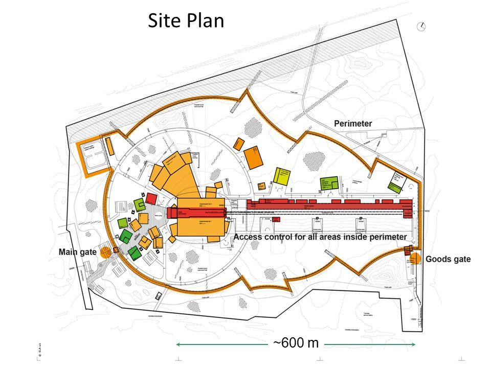 Site Plan ~600 m