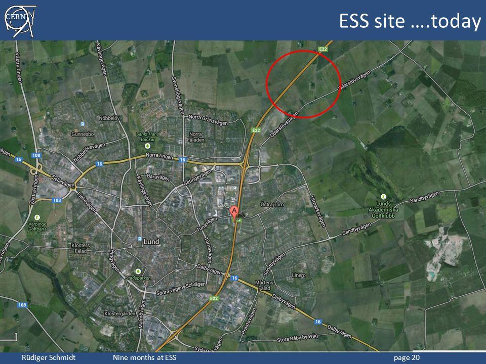 ESS site ….today