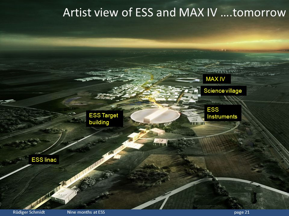 Artist view of ESS and MAX IV ….tomorrow