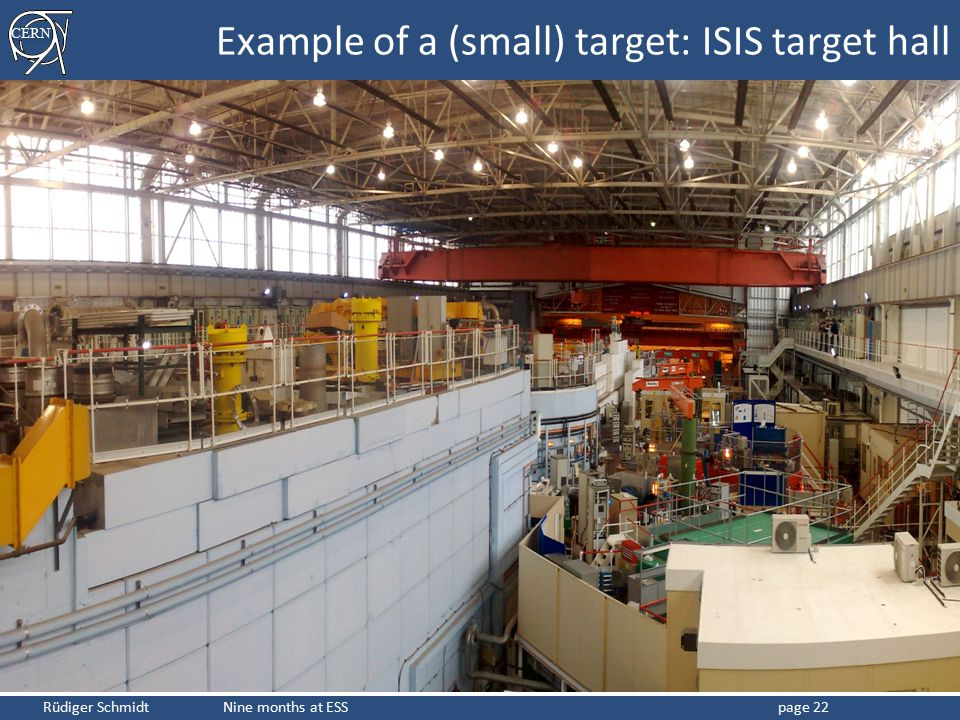 Example of a (small) target: ISIS target hall