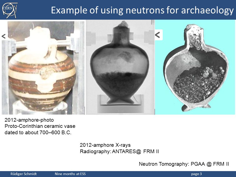 Example of using neutrons for archaeology