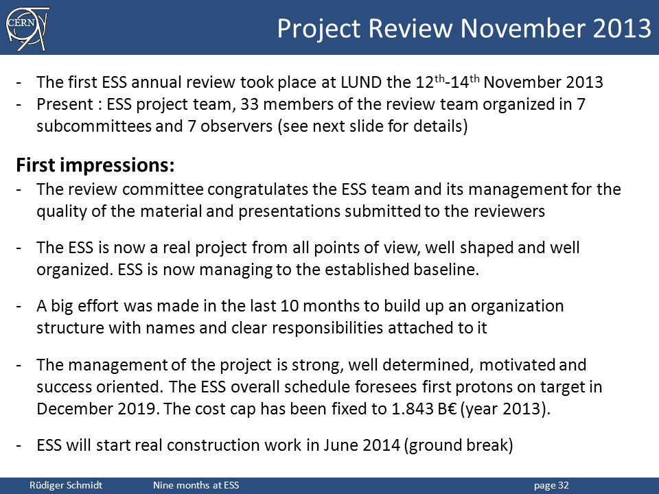 Project Review November 2013