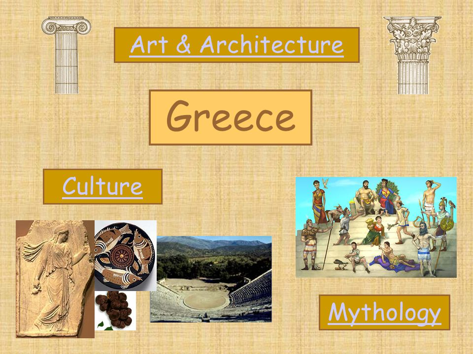 Art & Architecture Greece Culture Mythology