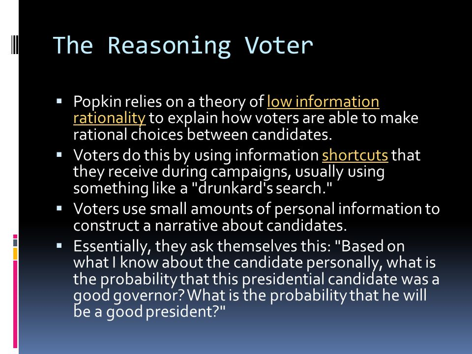 The Reasoning Voter