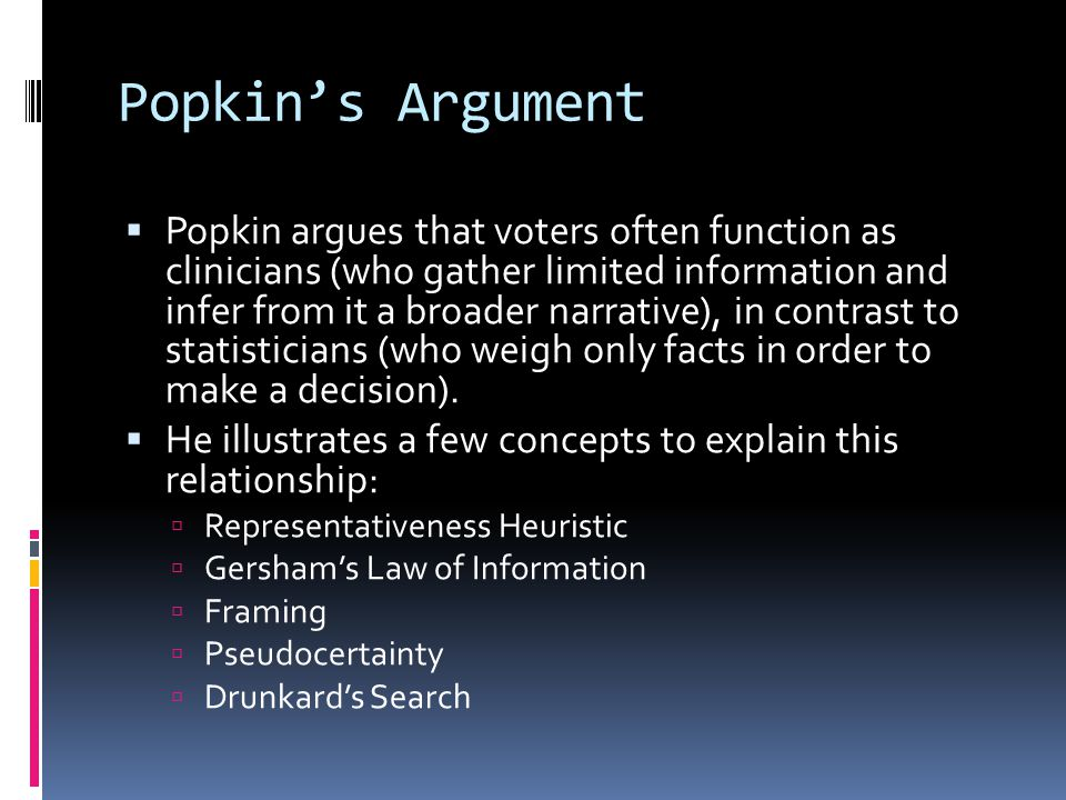 Popkin's Argument
