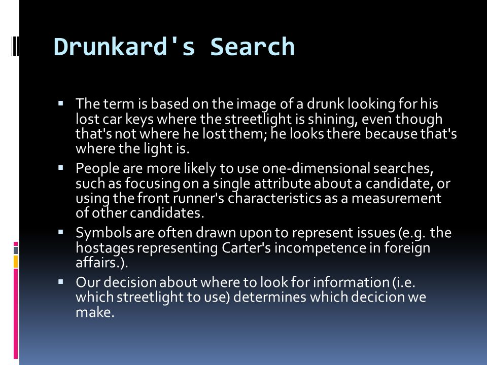 Drunkard s Search