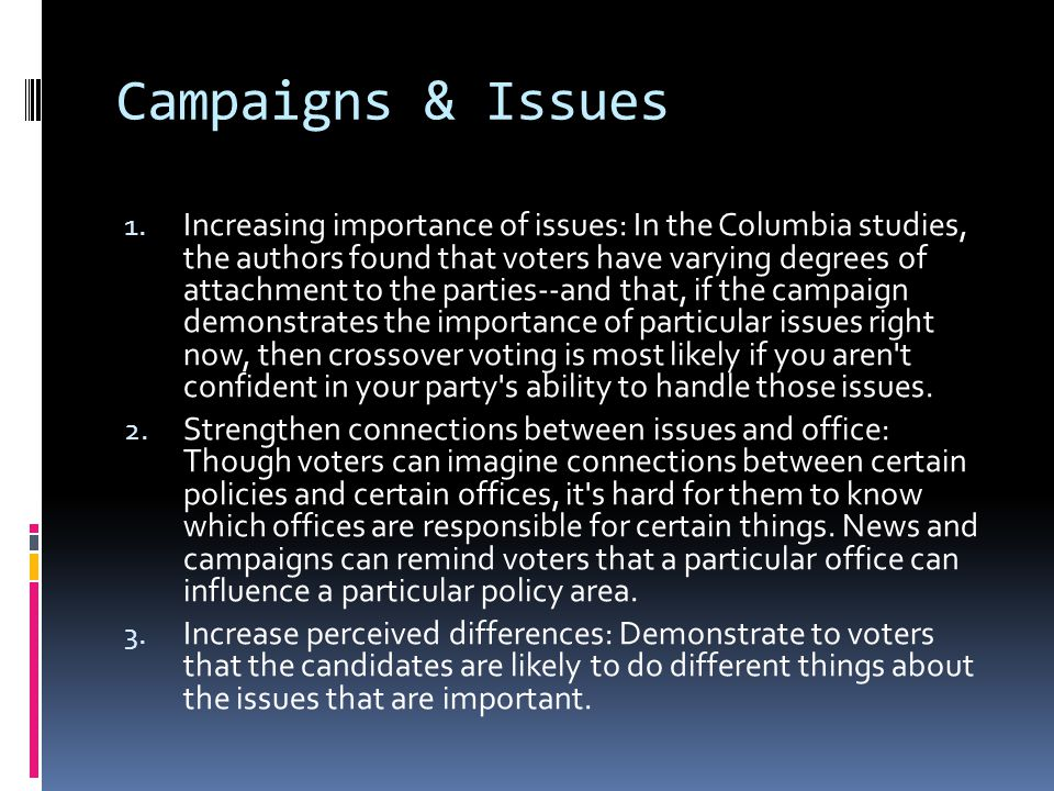 Campaigns & Issues