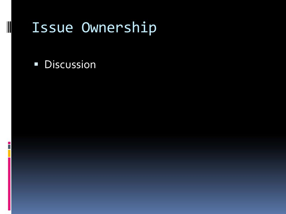 Issue Ownership Discussion