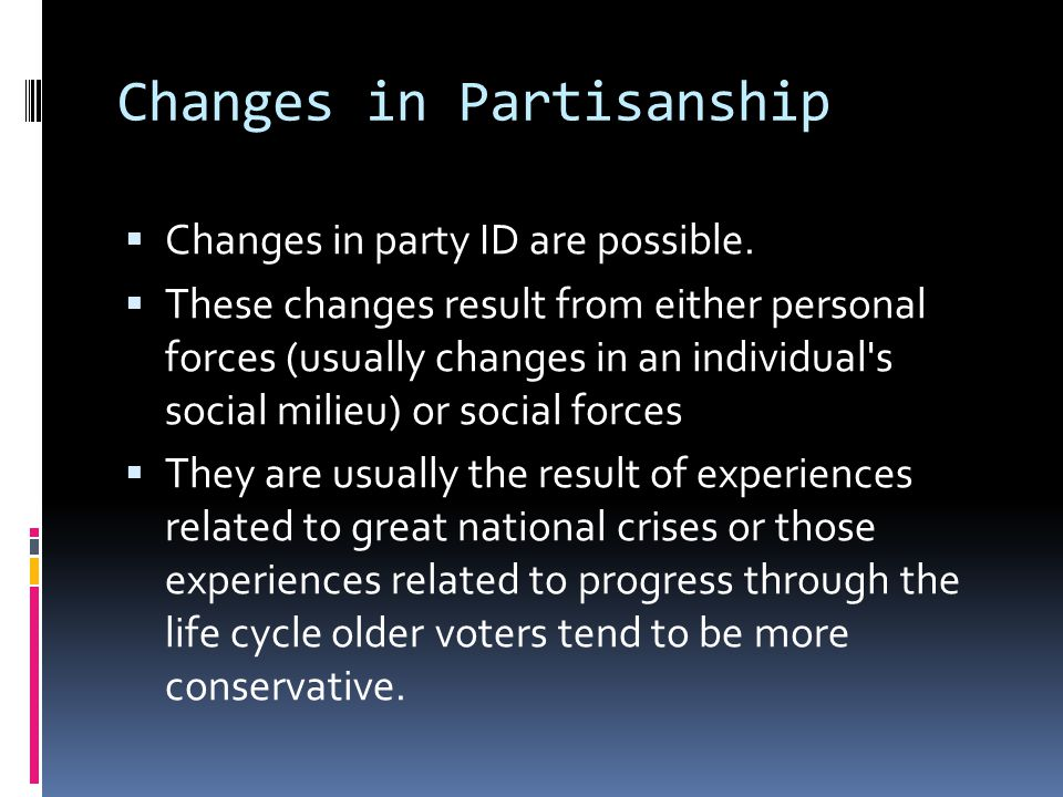 Changes in Partisanship