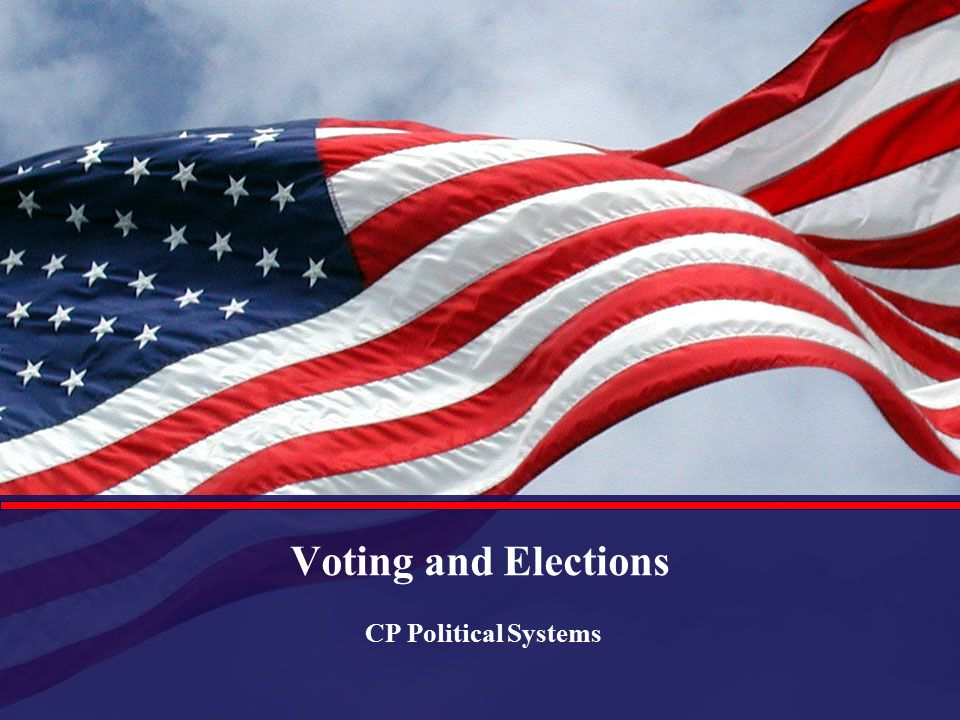 Voting and Elections CP Political Systems
