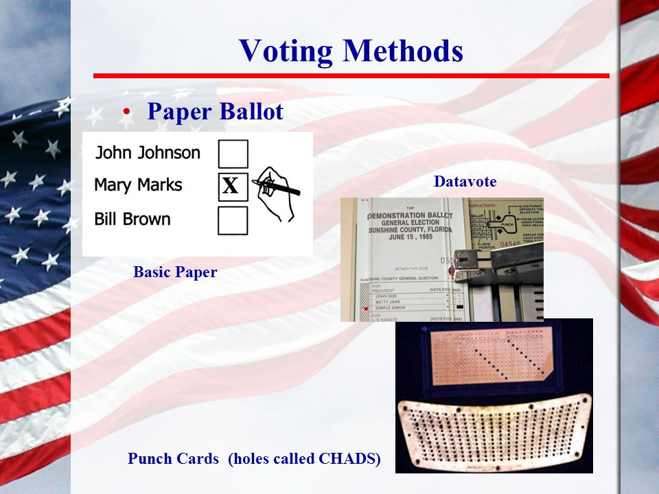Voting Methods Paper Ballot Datavote Basic Paper