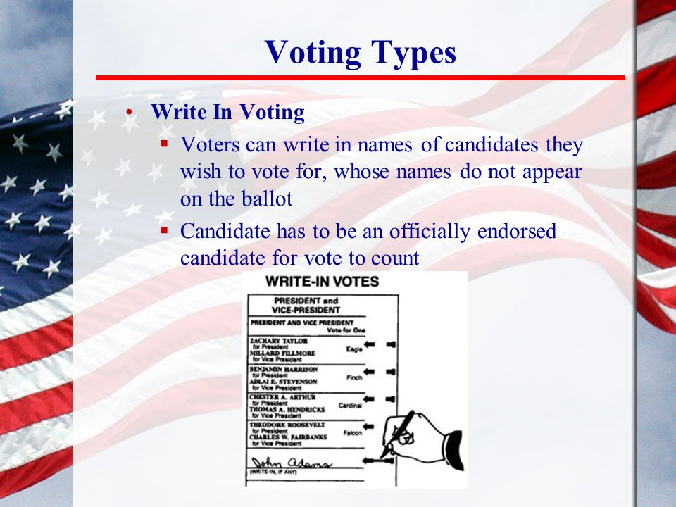 Voting Types Write In Voting