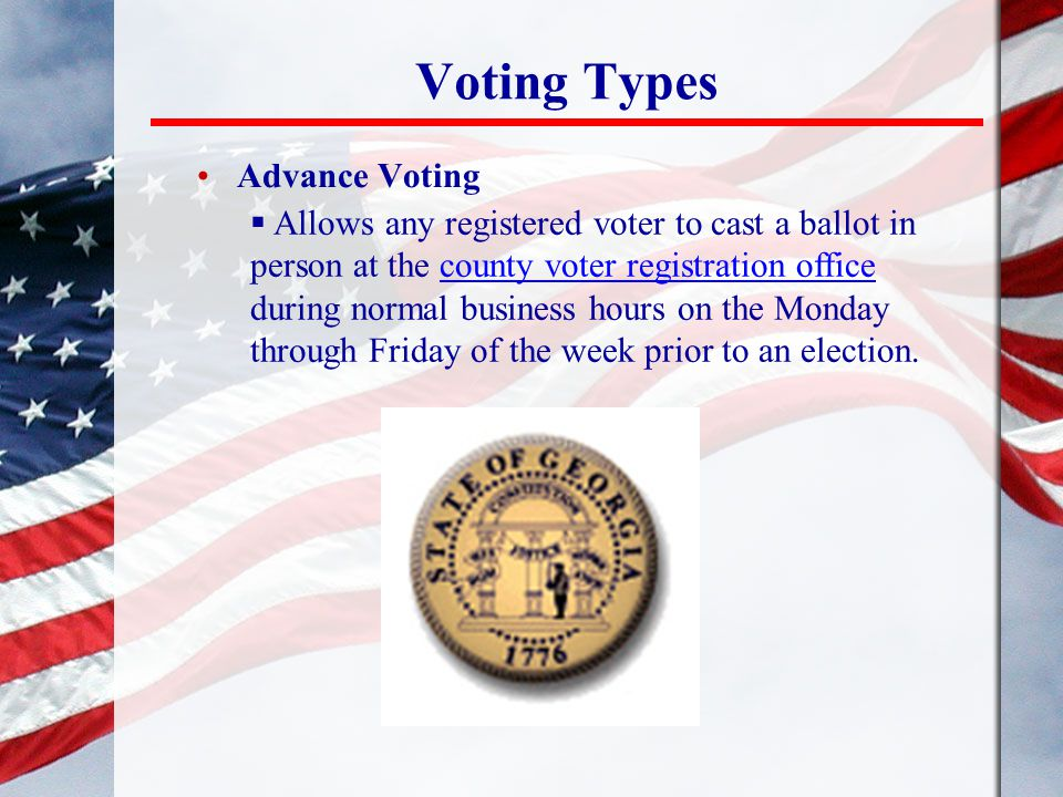 Voting Types Advance Voting
