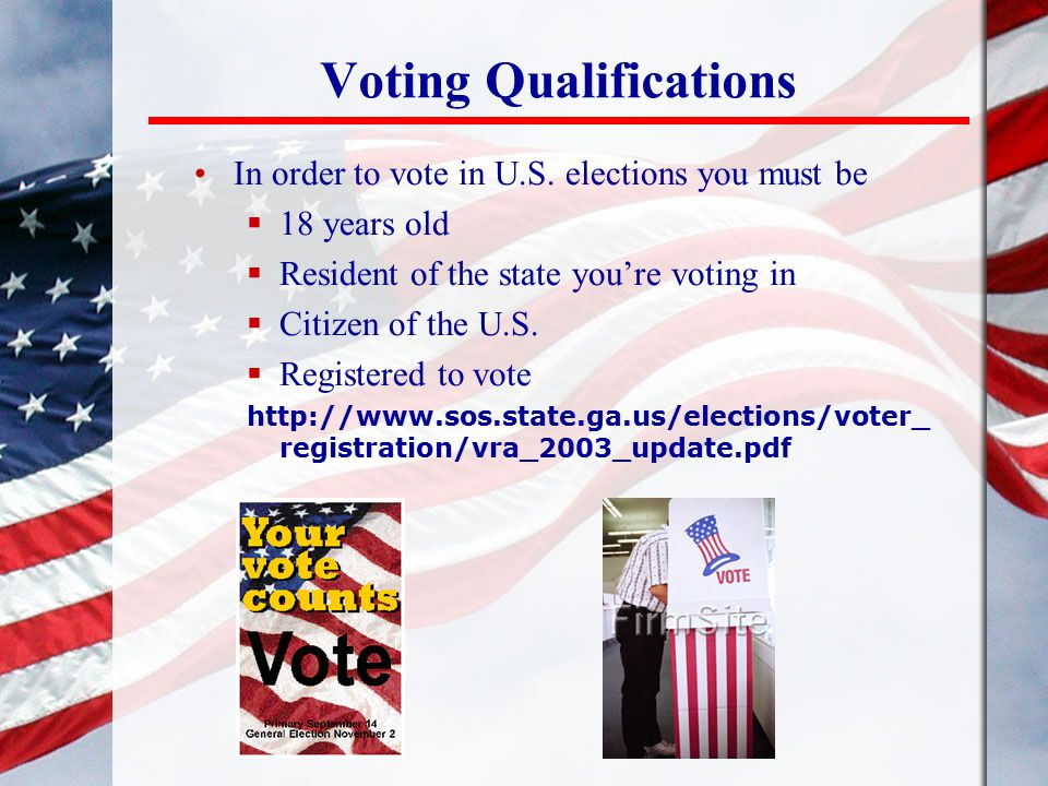Voting Qualifications