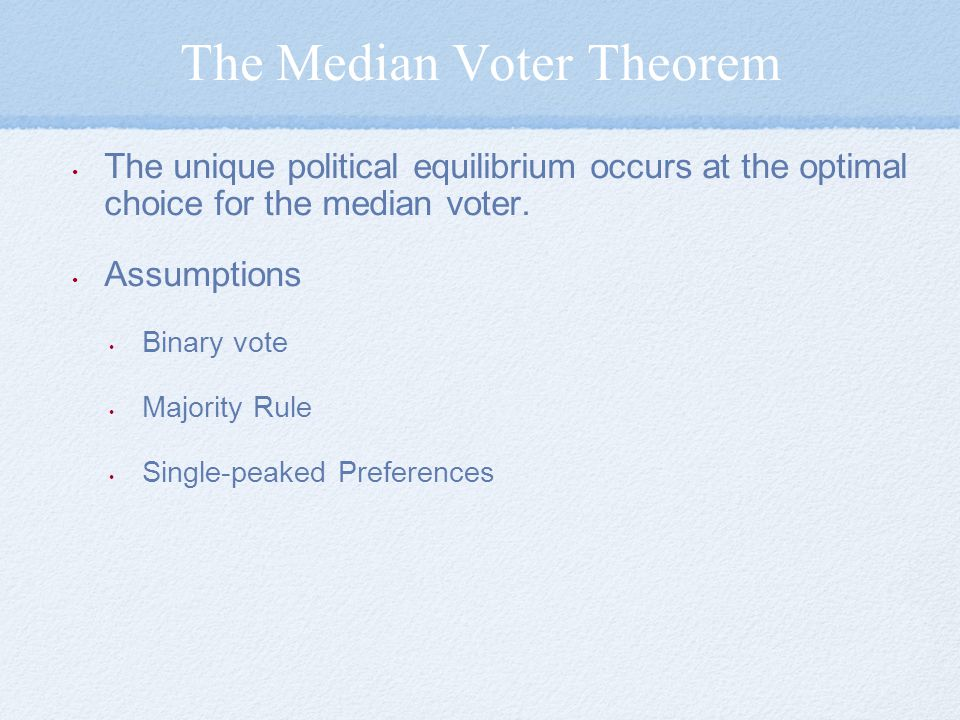 The Median Voter Theorem