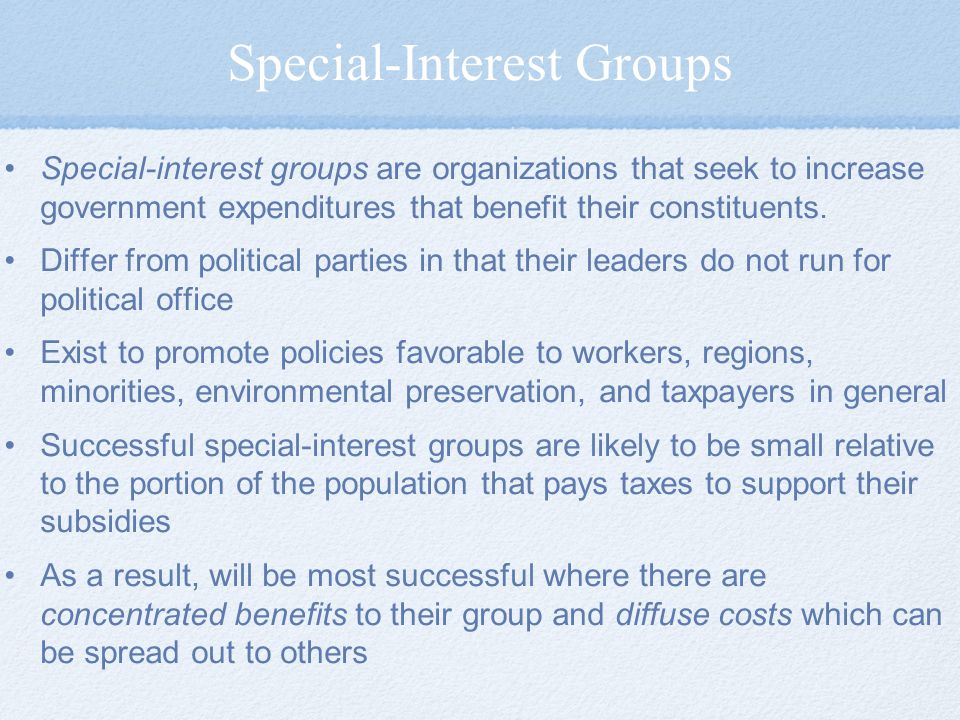 Special-Interest Groups