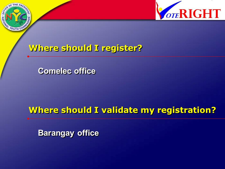 Where should I register