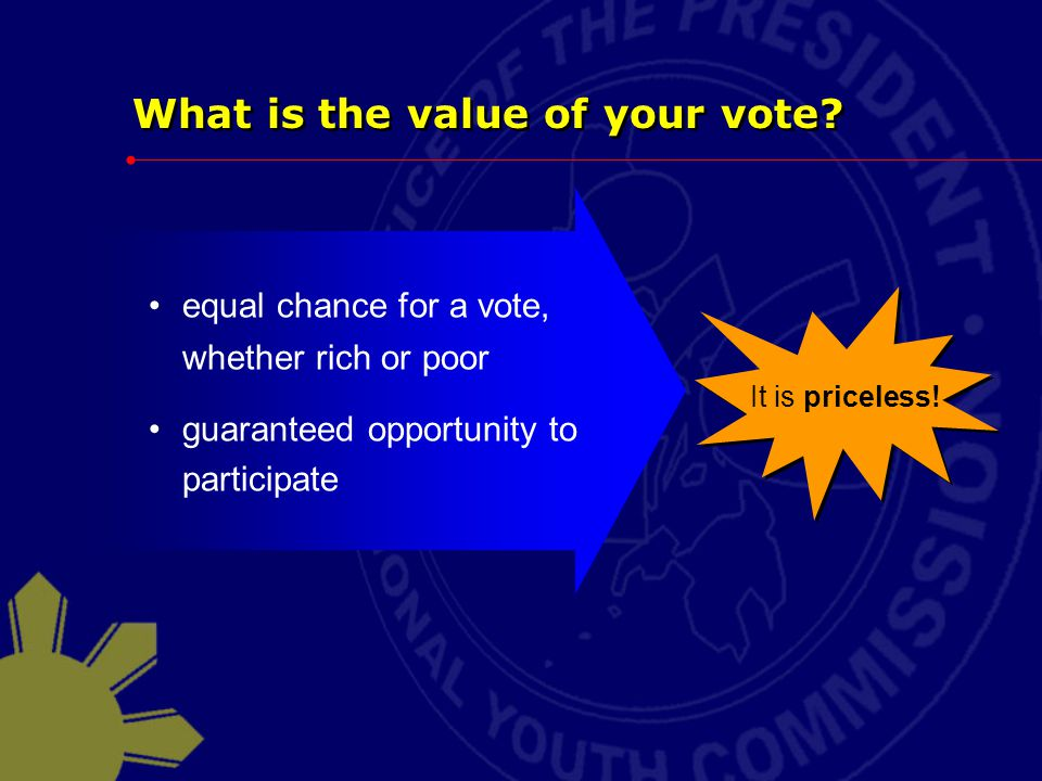 What is the value of your vote