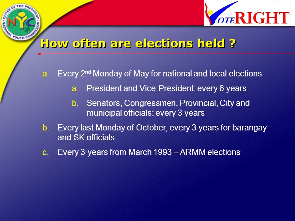 How often are elections held