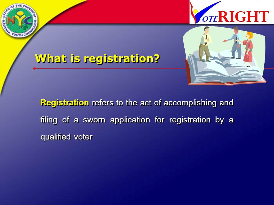 What is registration.