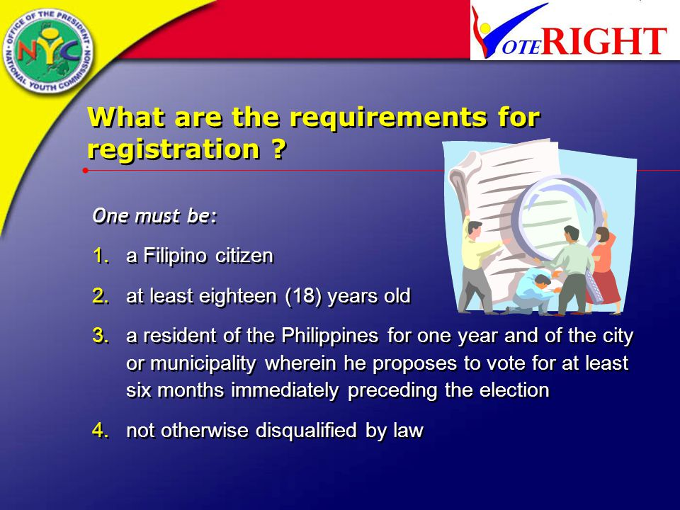 What are the requirements for registration