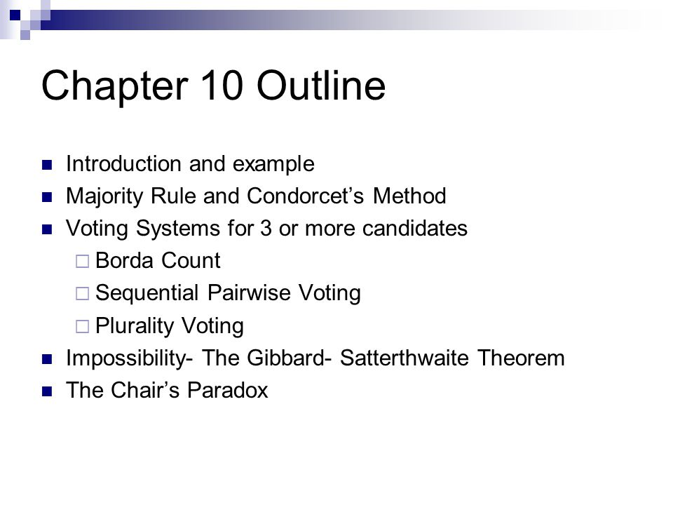 Chapter 10 Outline Introduction and example
