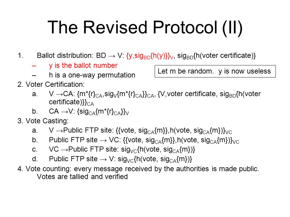 The Revised Protocol (II)