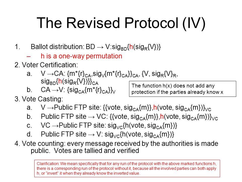 The Revised Protocol (IV)