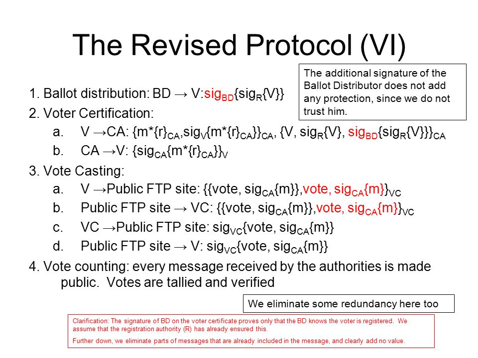 The Revised Protocol (VI)