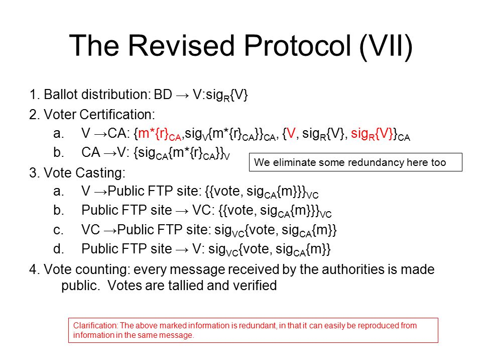 The Revised Protocol (VII)