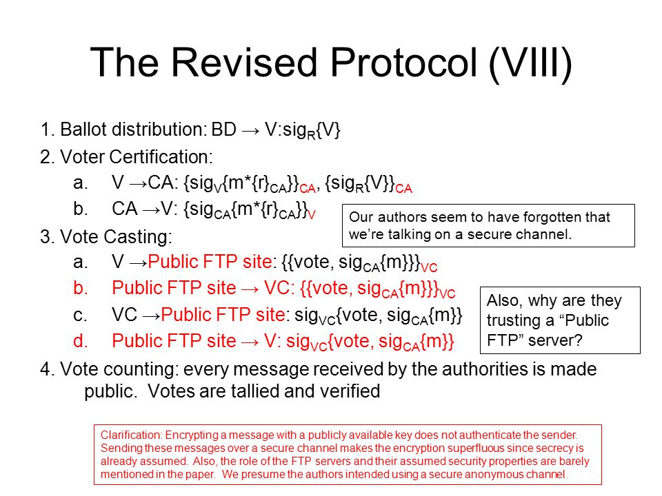 The Revised Protocol (VIII)