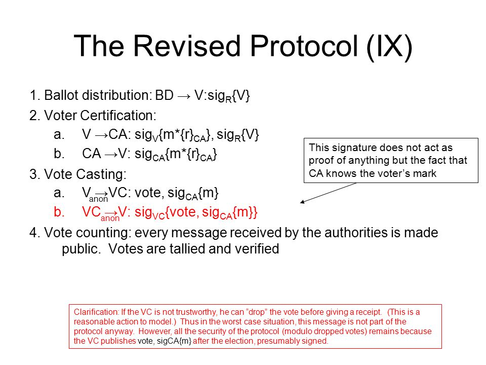 The Revised Protocol (IX)